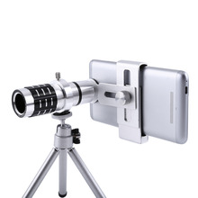 UVR Mobile Phone Telephoto Lens 12X Zoom Optical Telescope Camera Lens with Clips For iphone 4S 5S 6S 7 All Phone No Dark Corner 12x optical zoom telescope camera lens w back case for samsung galaxy note 2 n7100 silver black
