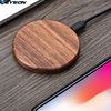 KEYSION 10W Wooden Qi Wireless Charger for iPhone 11 Pro XR XS Max Xiaomi mi9 fast Wireless Charging Stand for Samsung S10 S9 S8 6