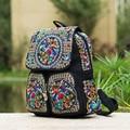 2015 Зима новый национальный Юньнань вышитые Рюкзак вышитые холст сумка досуг леди путешествия Школьные рюкзаки