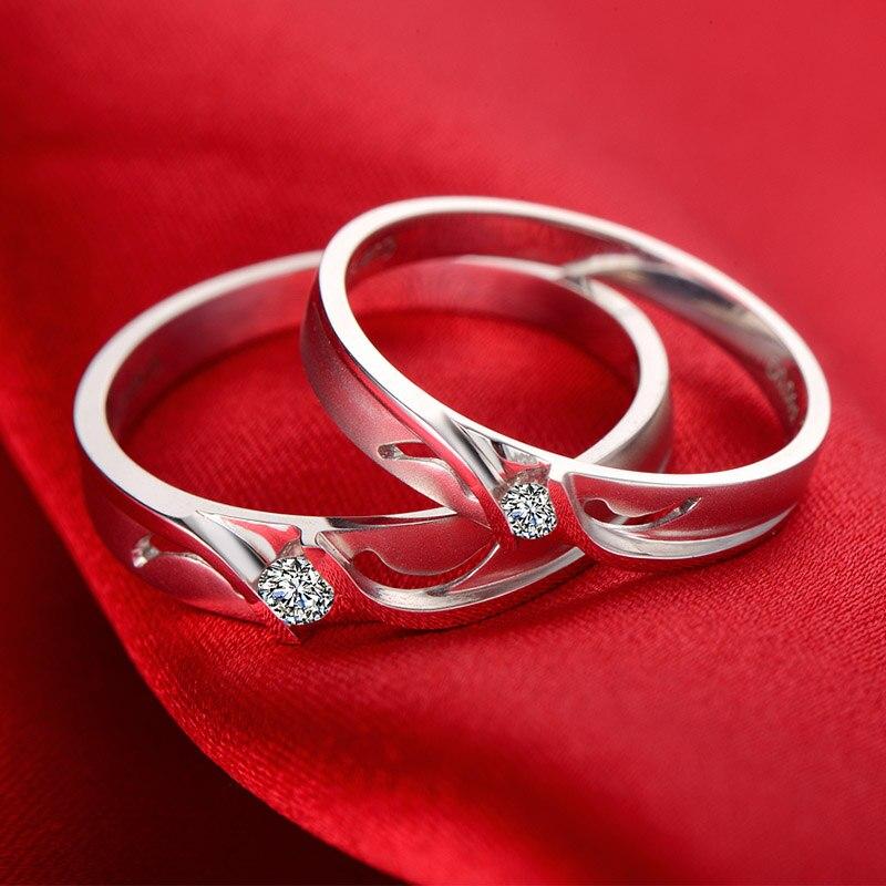18ct Gold Diamond Couple Set Rings Wedding Bands Engagement Rings for Men Women
