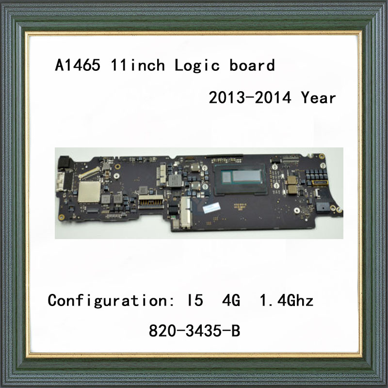 Genuine Logic Board for MacBook Air <font><b>A1465</b></font> <font><b>Motherboard</b></font> 11inch i5 8G 1.4GHz 2014 Year 820-3435-B image