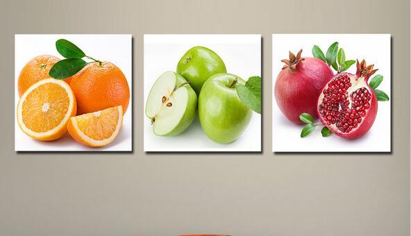 Panel decor fruit schilderijen keuken eetkamer deco muur foto
