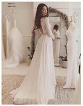 Дешевое свадебное платье с длинными рукавами 2020 белый/цвета