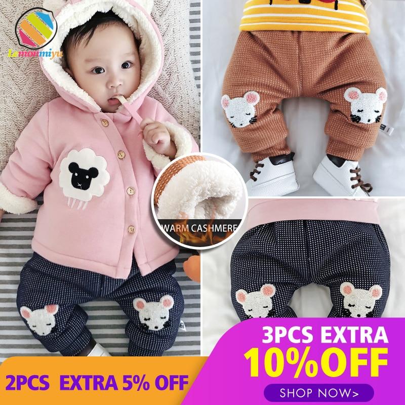 Lemonmiyu Winter Pants Harem Trousers Toddler Baby Cotton Casual Warm Cute Velvet Thicken
