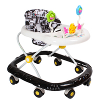 6 18Months Baby Adjustable Walker Baby Balance First Steps Car Early Educational Music Kids Toddler Trolley Sit to Stand Walker