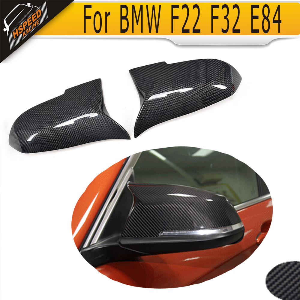 1 Series Carbon Fiber Side Mirror Covers for BMW F20 F21 2012-2016 left driving Not Fit M Car carbon fiber w205 car side mirror box cover shield fit for benz w205 left driving 2014up