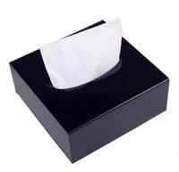 Deluxe Schwarzes Quadrat Acryl Zähler Top Gewebe Aufbewahrungsbox Organizer Halter Abdeckung Auto Tissue Tablett