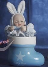Rabbit baby Musicbox baby gift windup music box baby body twist move musical box