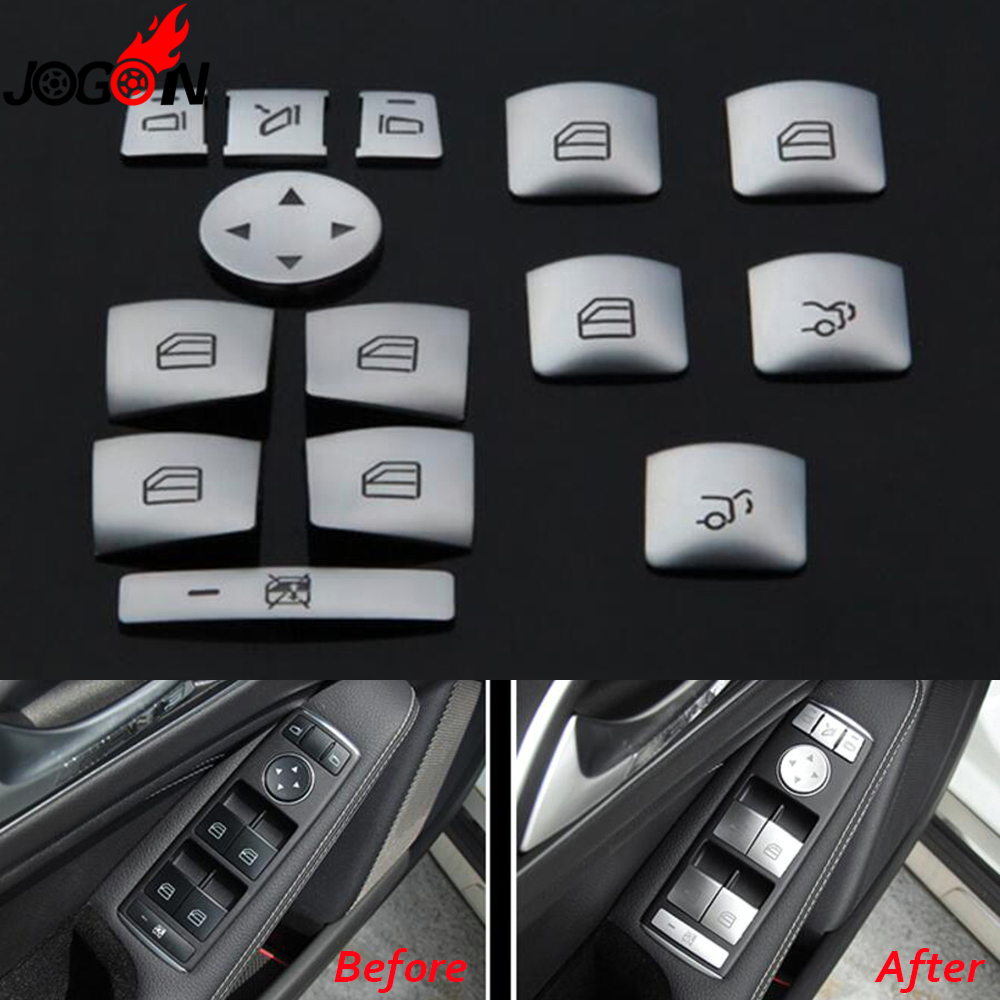 For Benz A B C E G Class W176 W204 W212 W166 X204 W218 X156 W463 CLA A45 Car Interior Door Window Lift Control Button Cover Trim цены