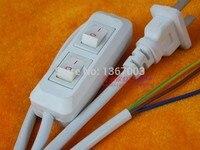 10 PC באיכות גבוהה 110 v 220 v שני מתג על קו כבל 1.8 m על Off כבל חשמל עבור מנורת LED עם מתג Plug ארה