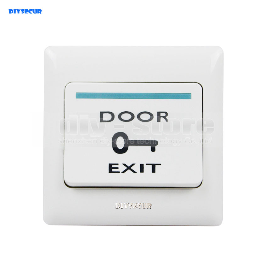 DIYSECUR Exit Push Button Switch For Door Access Control Kit exit