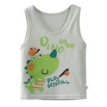 Summer Boys Clothing Sleeveless Cotton Cartoon Vest Baby Vest 1-5T With Cartoon Pattern Comfortable baby Cooling tops(China)