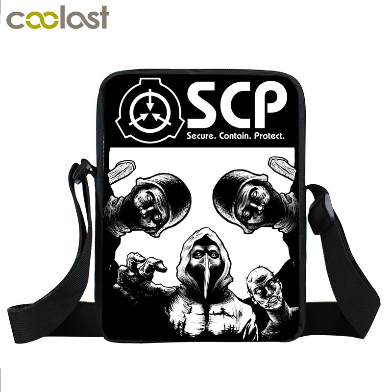 SCP Special Containment Procedures Foundation Mini Messenger Bag Scp-049 Women Handbag Boys Girls Book Bags Crossbody Bag Gift