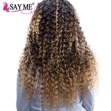 SAY ME Deep Wave Brazilian Hair Ombre Human Hair Weave Bundles Extensions 1b/4/27 Blonde Non Remy Meche Tissage Bresilienne Hair