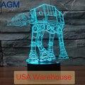9 Star Wars 3D Toque lámpara De Mesa de Luz 7 Que Cambia de Color de Escritorio tropa Perros Soldados 3D 3D LLEVÓ Luces de La Noche Para Los Niños Nocturna Centellante Diciembre