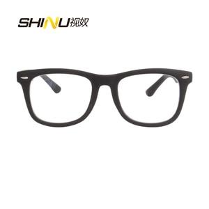 Image 3 - SHINU التقدمي متعدد البؤر نظارات للقراءة رؤية بعيدة وبالقرب القراءة نظارات ثنائية البؤرة قصر النظر نظارات Oculos دي غراو SH033