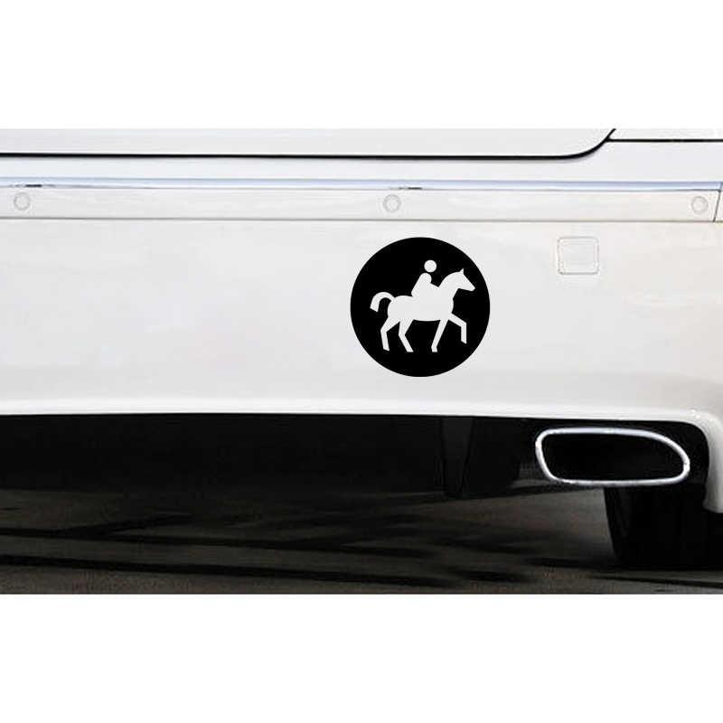 QYPF 10.9*10.9 CM Ilginç Atlı Spor Dekor Araba Sticker Siyah/Gümüş Aşırı Hareketi Aksesuarları Vinil C16-0929