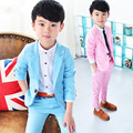 Brand 2017 Kids Formal Wedding Clothes Suit Baby Boy Blazer Set Boys Tuxedo Suits Jacket + Pants Children Clothing For Weddings