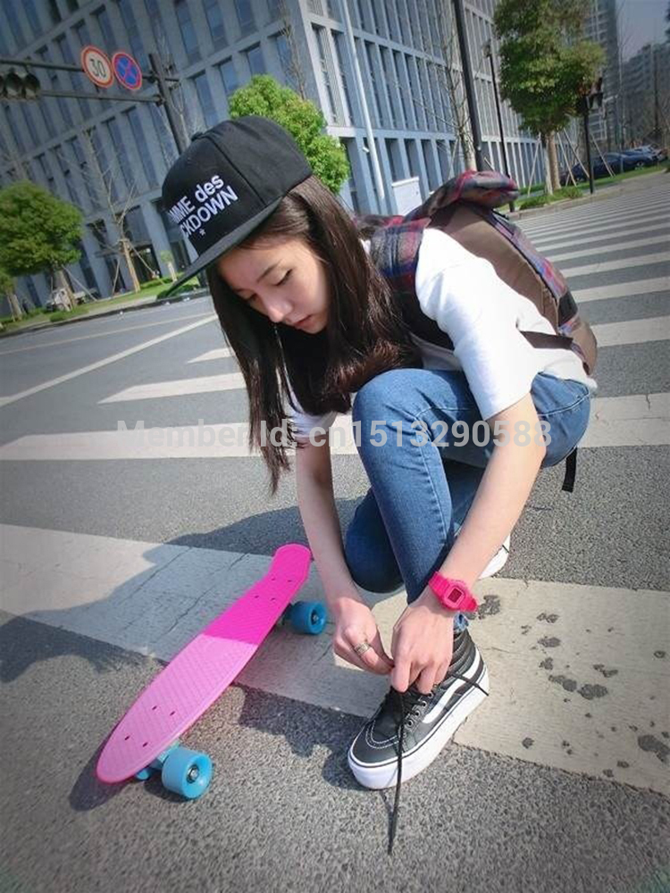 Hot peny board skateboard wheels complete retro girl boy cruiser hot peny board skateboard wheels complete retro girl boy cruiser mini longboard skate fish long board skate wheel pnny board 22 in skate board from sports voltagebd Image collections