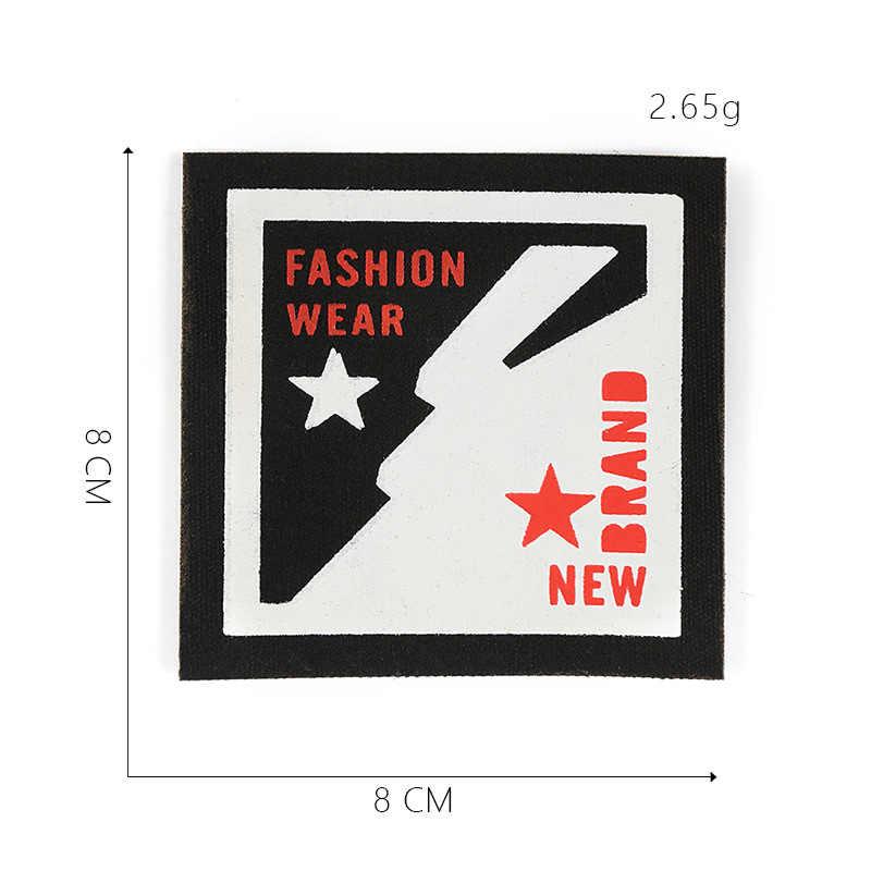 Paño impreso adhesivo estándar parche pegatinas personalidad punk rock estilo inglés carta tela insignia Ropa Accesorios zapatos