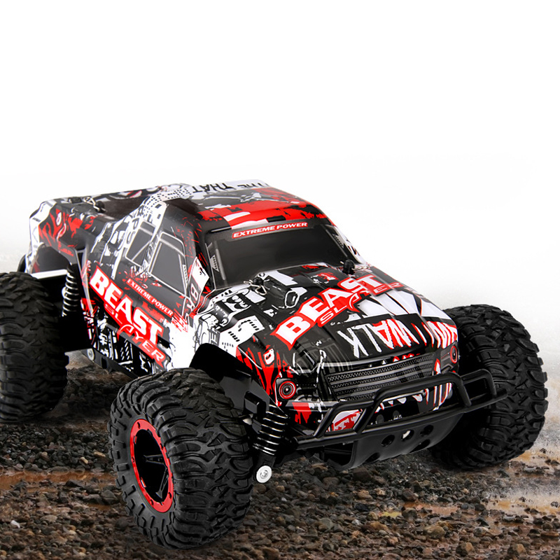 XQ 2.4GHz 2WD 1/16 Scale Monster Bigfoot Climb Truck Off-Road High Speed Electric RC Radio Remote Control Toys For Children Gift