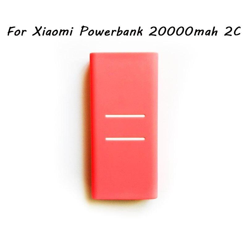 External Anti-slip Silicone Case Cover For Xiaomi Power Bank 2 10000 mAh 20000 mAh 2C Power Bank Case Rubber Protector Cover