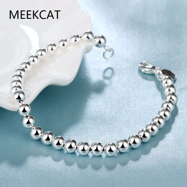 6b20095cce2 6mm silver plated balls rosary bracelet for woman 2016 new female tesbih  bileklik jewellery bijoux femme argent pulseira