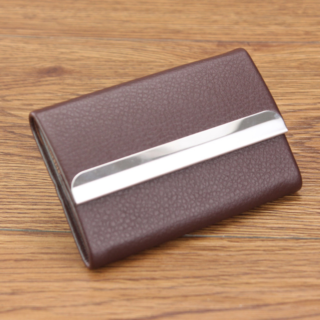 New Capacity Business Name Cards Holder Credit Card Purse Uni Men Women Visiting