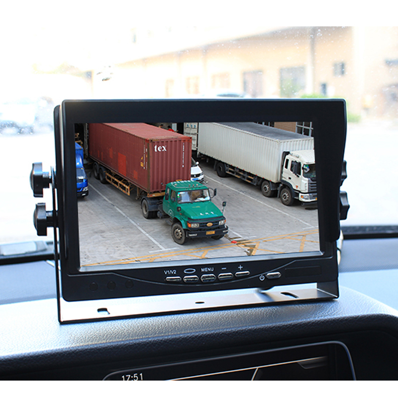 Wholesale 10PCS/Lot HD Digital Screen 800*480 7 Inch TFT LCD Car Parking Monitor With Iron Bracket 2 RCA Video Input