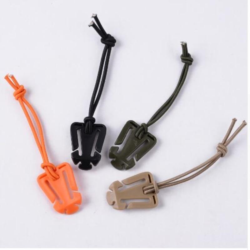 1Pc EDC Molle Backpack Carabiner EDC Tool Elastic Rope Webbing Buckle Winder Climbing Accessories