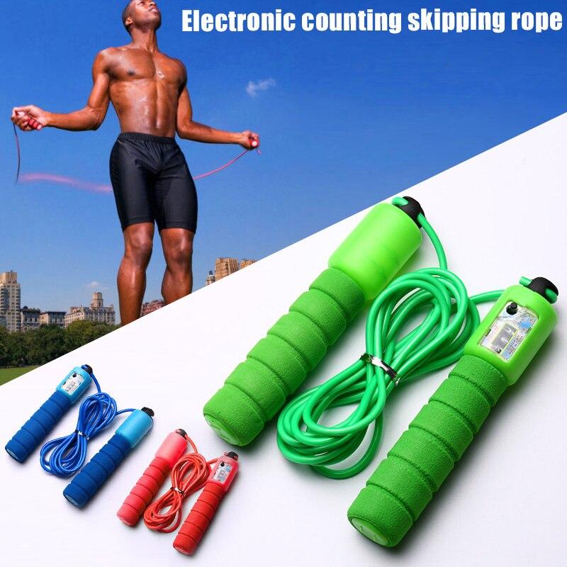 Прыжки через скакалку со счетчиком Спортивный фитнес Регулируемая быстрая скорость счета Прыжки чере ①