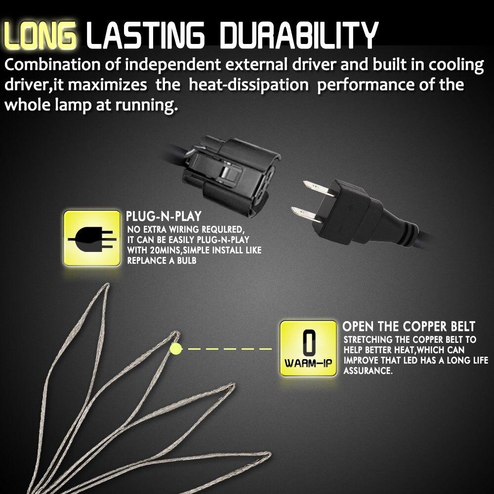 H1 S7 передняя лампа автомобильные аксессуары светодиодный головной светильник светодиодный противотуманный светильник супер яркий Универсальный сменный 6000K 8000 лм 72 Вт DC 12 В 24 В COB