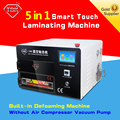 lamination machine Upgrade 5 in1 touch screen vacuum OCA Laminator LY 897A with Built-in Air Compressor