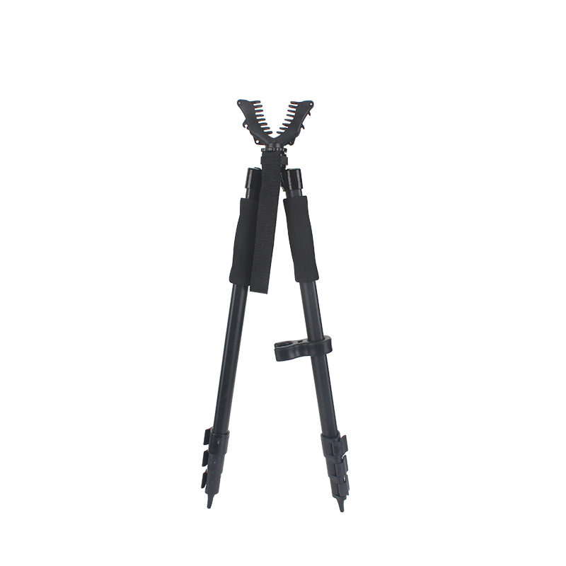 WGB01 Hunting Rilfe Shooting Stick Bipod with Rubber Holder for Telescope Optical Monoclar Bipod Mount for Wildlife Trail Camera