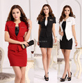 New Plus Size 2015 Spring Summer Formal Business Work Suits Blazer Jackets And Skirt Uniform Style Blazers Office Ladies Set Red