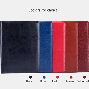 Image 2 - A4 Leather Folder Padfolio Multi function Office Documents Organizer Planner Notebook School Writing Pads Folder with Calculator