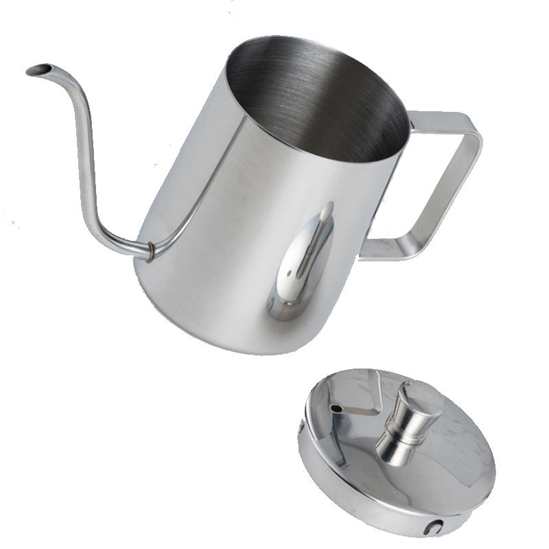 350ml 600ml 304 Stainless Steel Long Narrow Spout Coffee Pot Gooseneck Kettle Hand Drip Kettle Pour Over Coffee With Lid