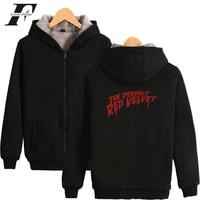LUCKYFRIDAYF 2019 RED Velvet Print Hot Sale Long Sleeve Zipper Hoodies Sweatshirt Women Casual Harajuku Pop Clothing For 4XL