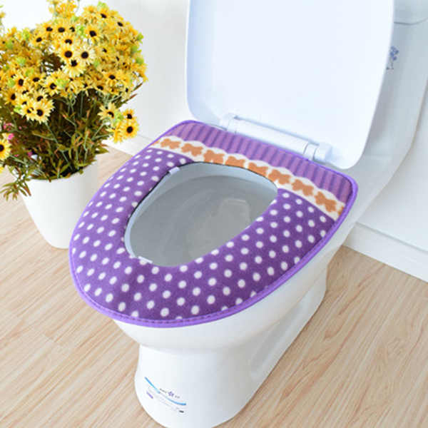 Зимний подогреватель сиденья для унитаза флис толстый мягкий удобный детский детские горшки чехол Аксессуары для ванной комнаты LBShipping