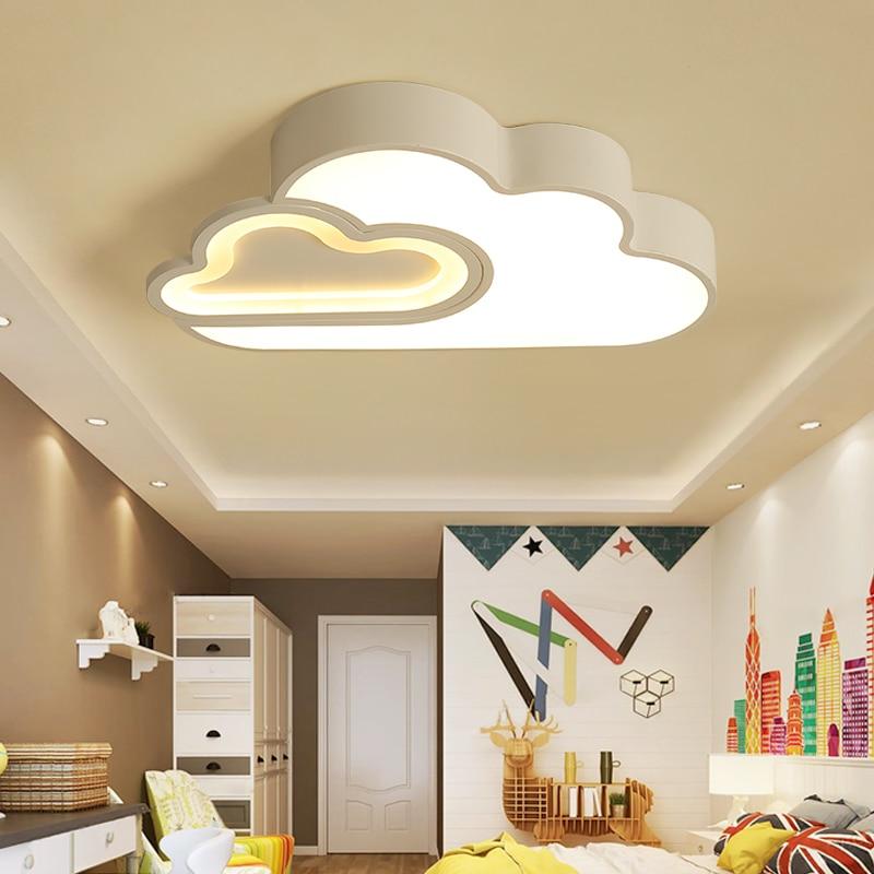 LED Nube camera dei bambini dei bambini di illuminazione a soffitto lampada Del Bambino della luce di soffitto con Regolazione per le ragazze dei ragazzi camera da letto Lampada Da Soffitto A led - 5