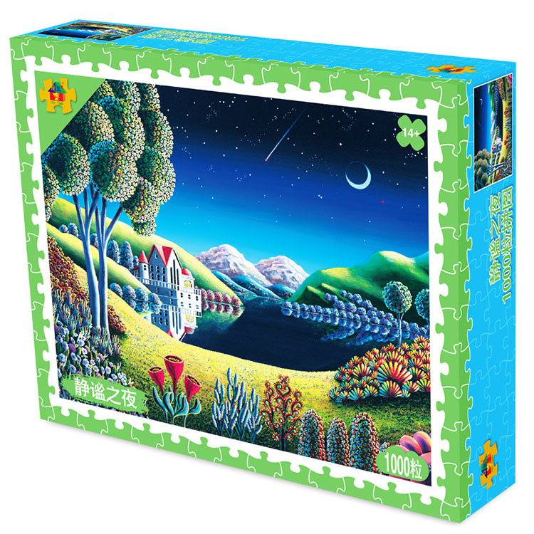 Adult DIY puzzle anti stress toy personalized castle landscape 1000 paper puzzle fidget toys Jigsaw puzzle game for girl boy