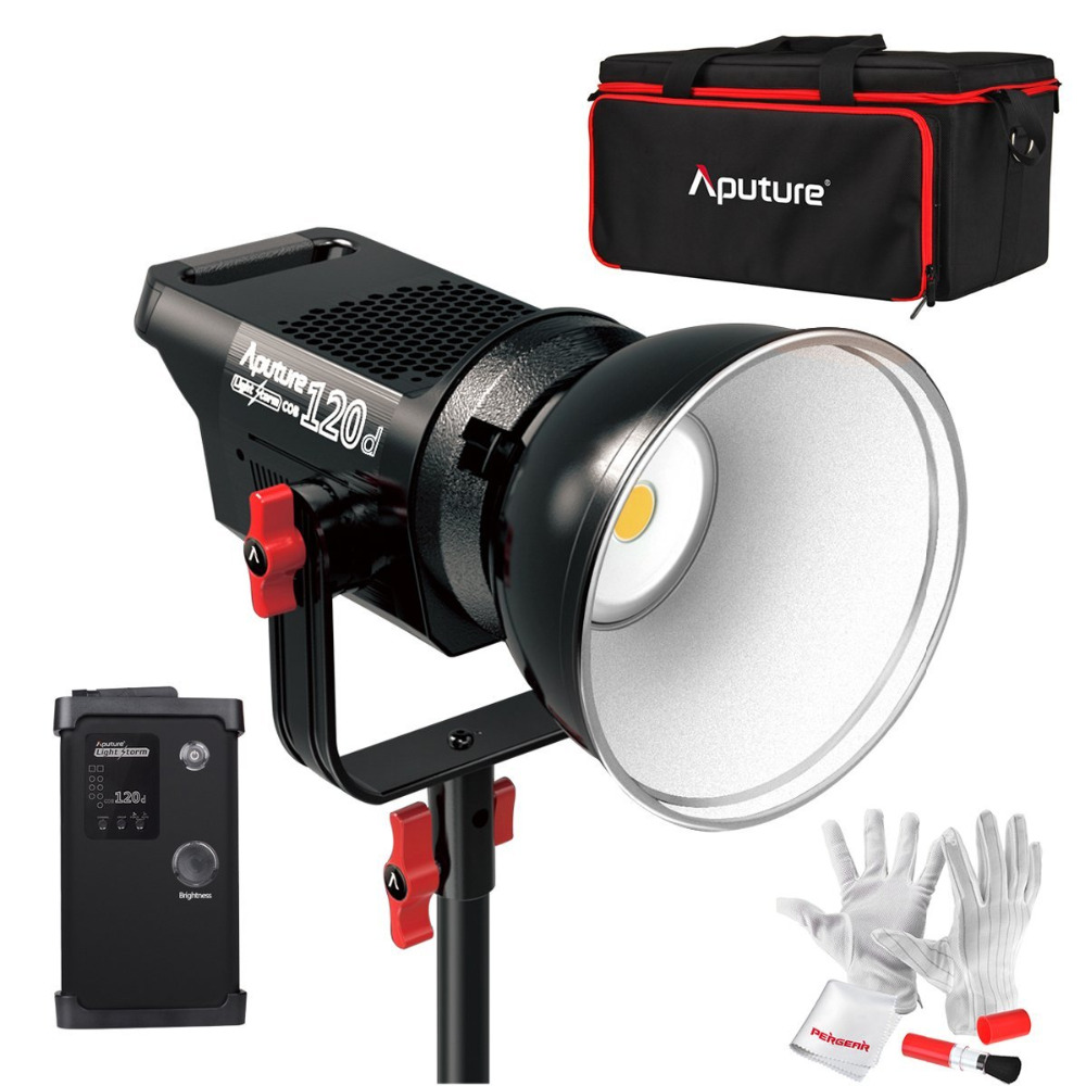 Aputure Light Storm COB 120D 135W 6000K LED Continuous Video Light CRI97+ TLCI97+ 14000lux@0.5M Bowens Mount with Remote Control aputure ls c300d cri 95 tlci 96 48000 lux 0 5m color temperature 5500k for filmmakers 2 4g remote aputure light dome mini