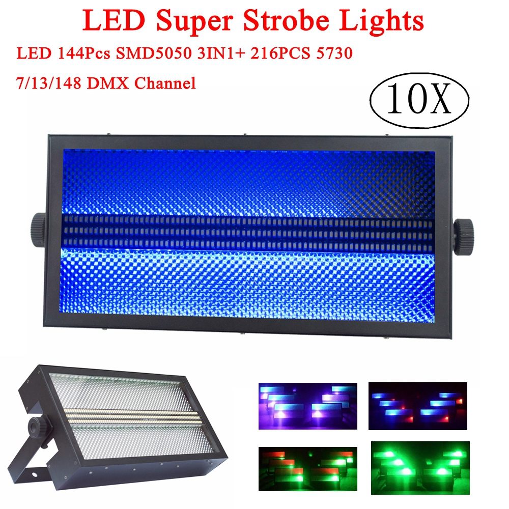 10XLot  144Pcs SMD5050 RGB 3IN1 DMX Strobe Flash Lights led stage lights bar KTV DJ equipments DMX stage effect lighting10XLot  144Pcs SMD5050 RGB 3IN1 DMX Strobe Flash Lights led stage lights bar KTV DJ equipments DMX stage effect lighting