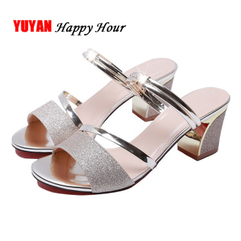 High Heel Sandals Women Shoes Peep toe Square Heels Ladies Sandals 2019 Summer Shoes Woman Fashion Heel 6cm A645