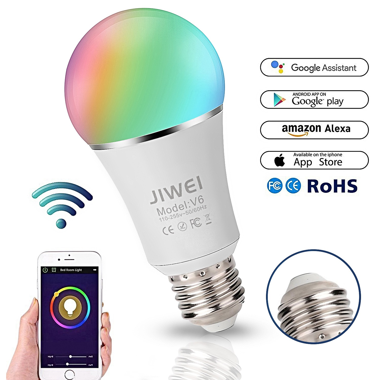 Confident Wifi Remote Energy Saving Dimmable Rgb Colorful Kitchen Smart Bulb Color Changing Led Light Home Voice Controlled Bedroom Timing Low Price Light Bulbs