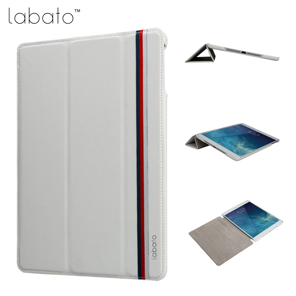 Labato Smart Case for iPad 9.7 inch 2017 Case PU Leather Luxury Quality Magnet Smart Cover for iPad 5 6 9.7 2017 Fold Flip Cover