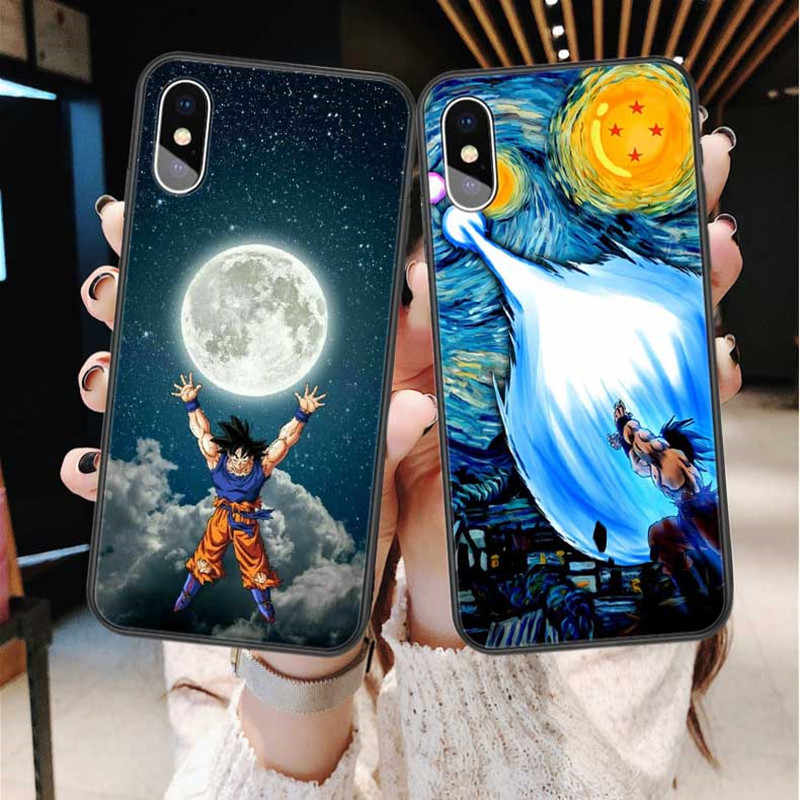 Dragon Ball Z Super DBZ Goku Fashion Coque For iPhone X XR XS MAX 7 8 Plus 6 6 splus 5S SE Phone Case Cartoon Soft TPU Cover For iPhone 11 Pro Max