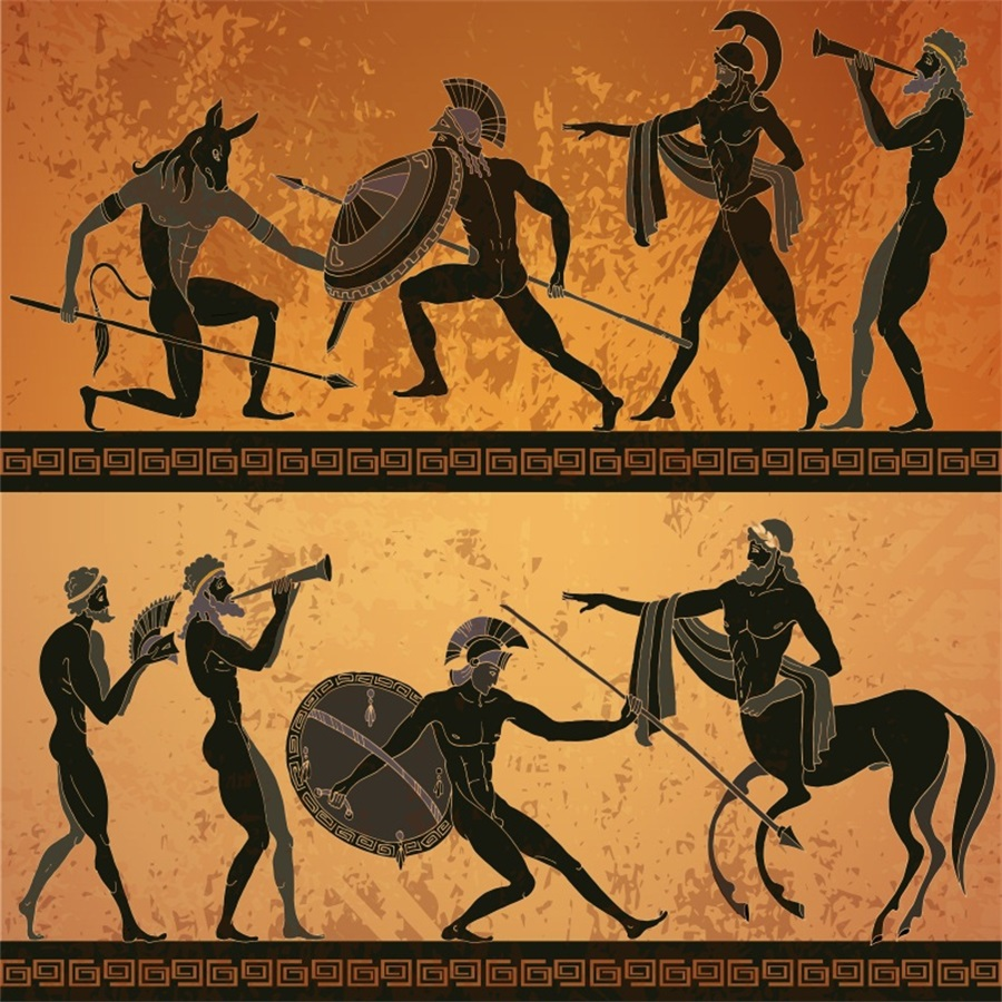 Laeacco Classical Ancient Greek Warrior Centaur Photography Backgrounds Vinyl Custom Photographic Backdrops For Photo Studio laeacco grunge old wood planks wooden texture baby photography backgrounds vinyl custom photographic backdrops for photo studio