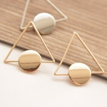 New fashion jewelry Simple copper Triangle stud earring  gift for women girl E3175