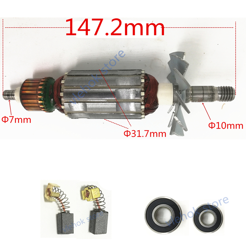 Armature Motor Engine Rotor AC 220-240V Replace For MAKITA N1900B 1900B Portable Planer Wood Rotor Cutter